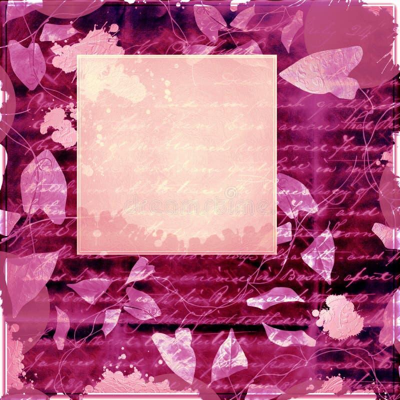 сбор винограда пурпура рамки иллюстрация вектора