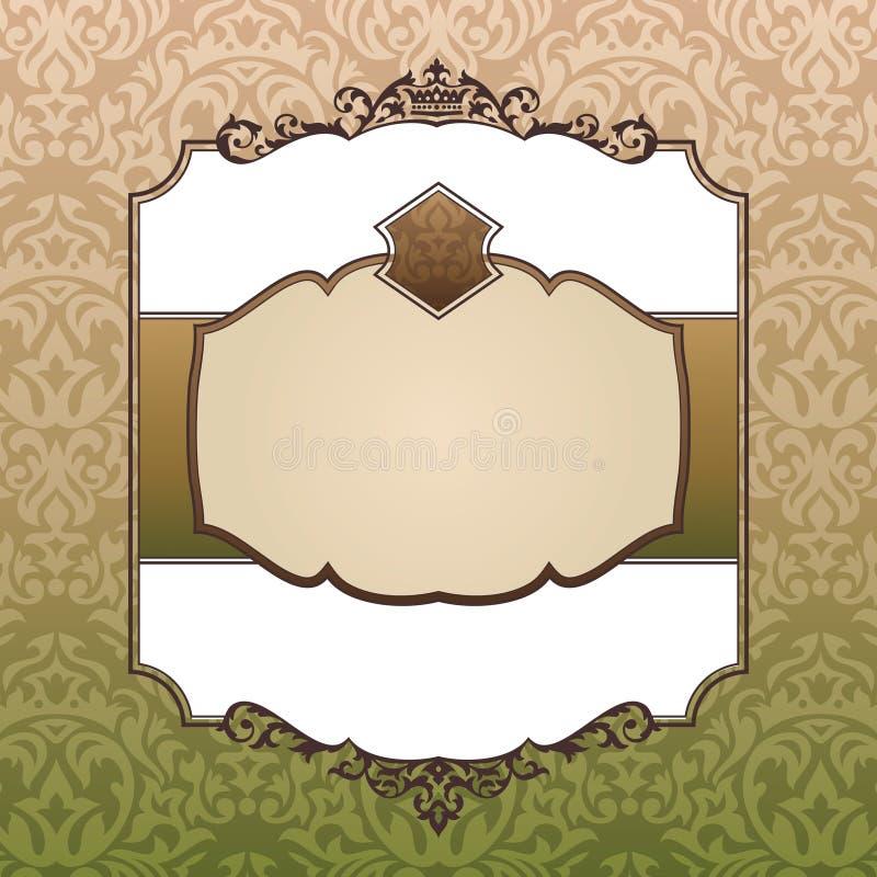 сбор винограда рамки богато украшенный королевский иллюстрация штока