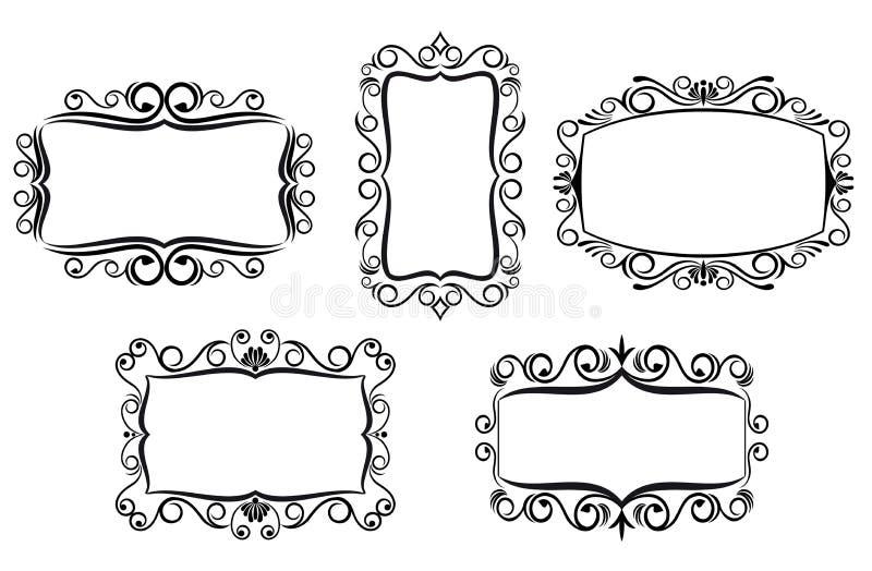 сбор винограда рамки конструкции иллюстрация вектора