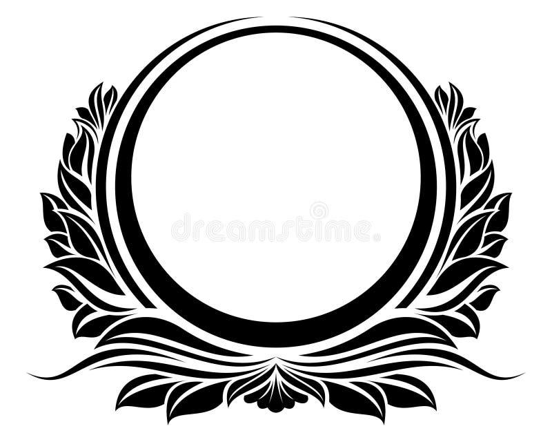 сбор винограда рамки круга blck иллюстрация вектора