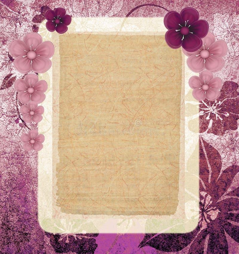 сбор винограда рамок розовый иллюстрация вектора