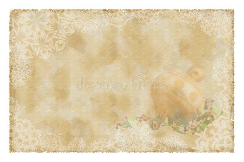 сбор винограда рождества бумажный иллюстрация штока