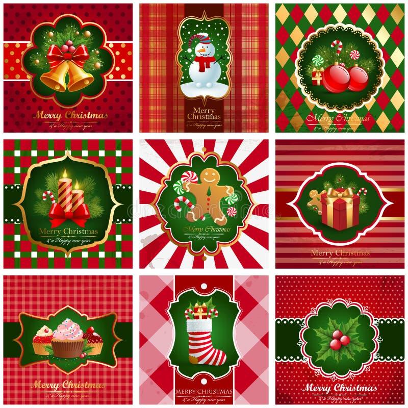 сбор винограда рождества предпосылок иллюстрация вектора