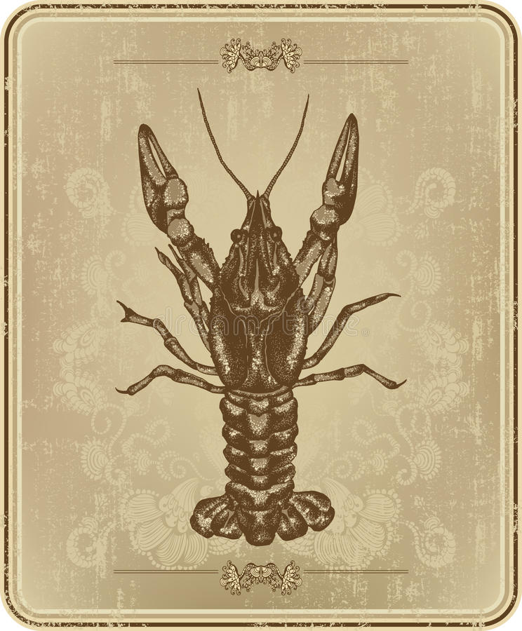сбор винограда руки ленточной машины crayfish иллюстрация штока