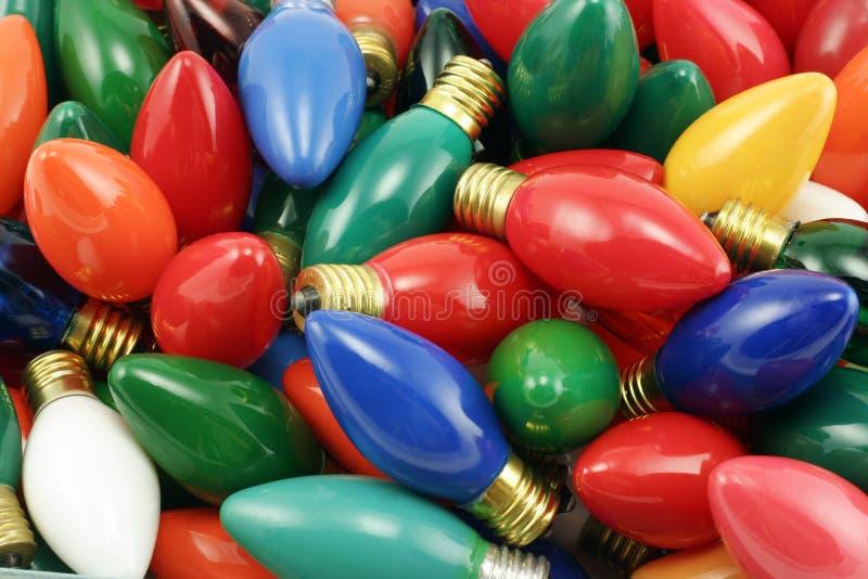 сбор винограда света рождества шариков стоковые изображения rf