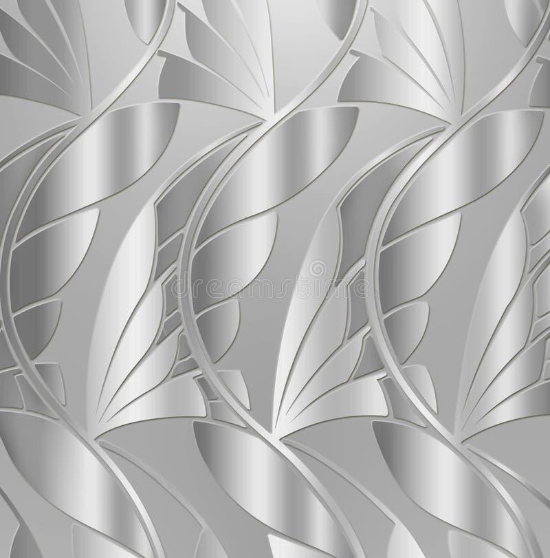 сбор винограда серебра листьев предпосылки иллюстрация вектора