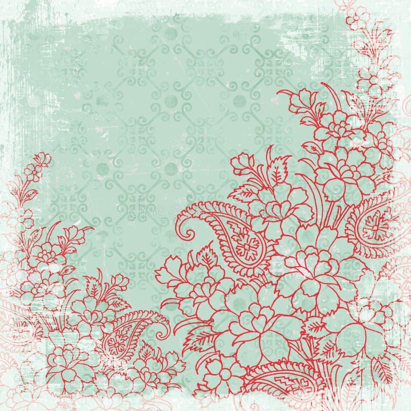 сбор винограда темы рождества предпосылки флористический иллюстрация вектора