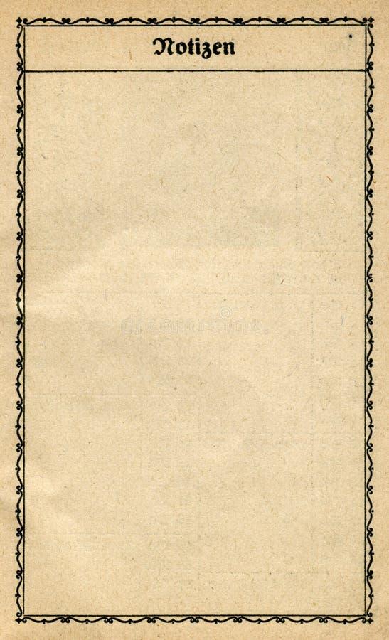 сбор винограда тетради старый бумажный стоковое изображение