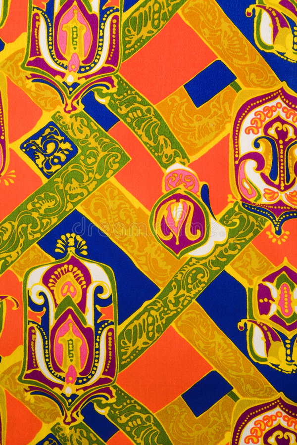 сбор винограда ткани детали стоковая фотография