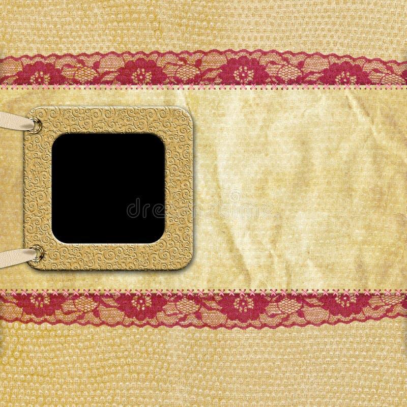 сбор винограда фото рамки предпосылки ретро иллюстрация штока