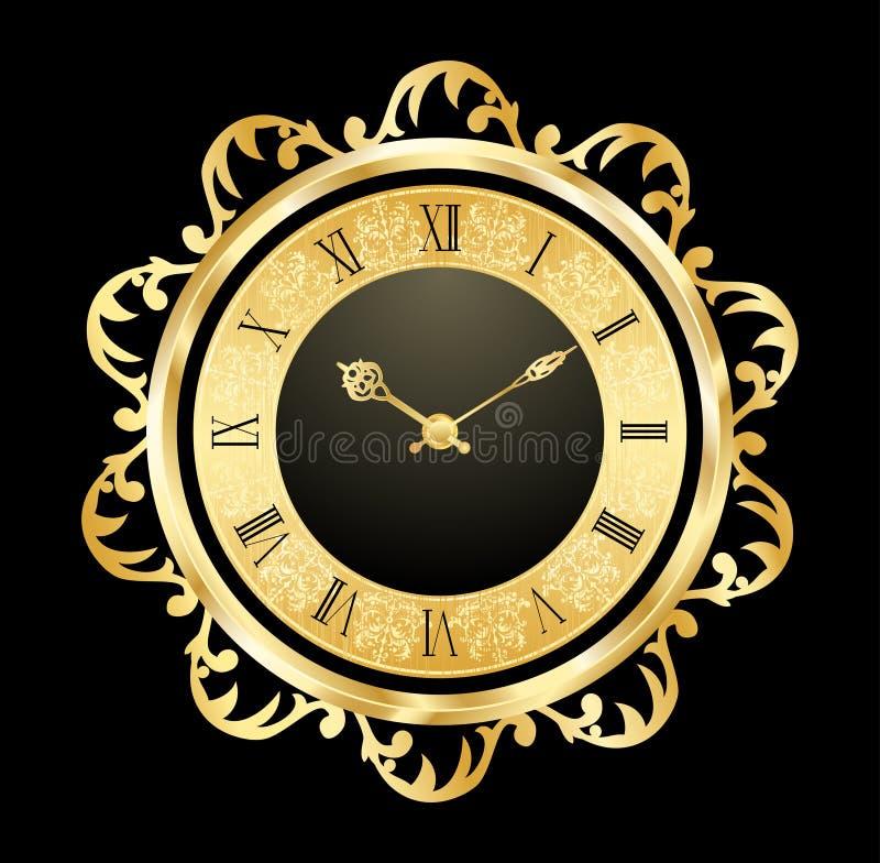 сбор винограда часов золотистый бесплатная иллюстрация