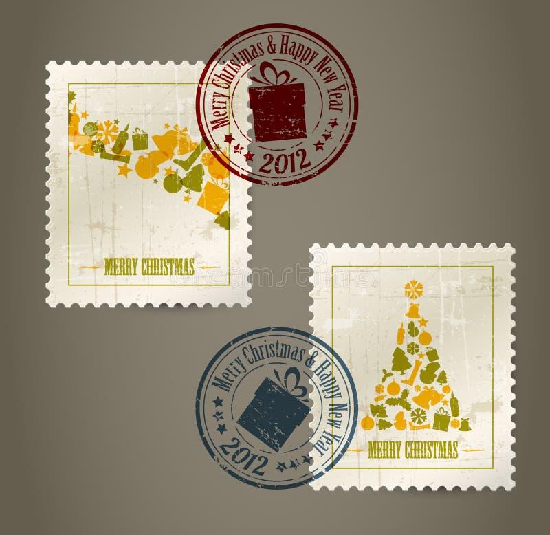 сбор винограда штемпелей почтоваи оплата собрания бесплатная иллюстрация