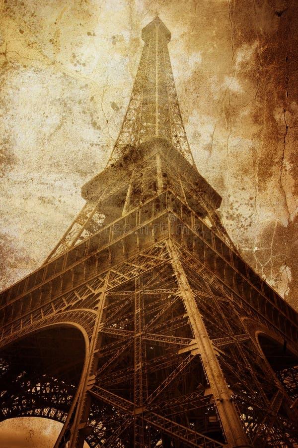 сбор винограда Эйфелевы башни стоковые фото