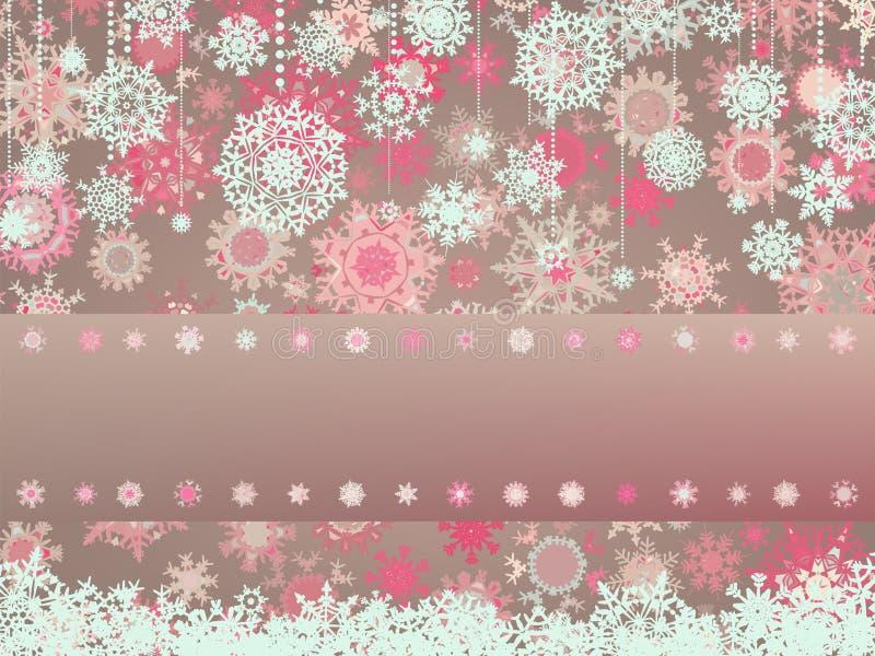 сбор винограда 8 снежинок eps рождества карточки иллюстрация штока