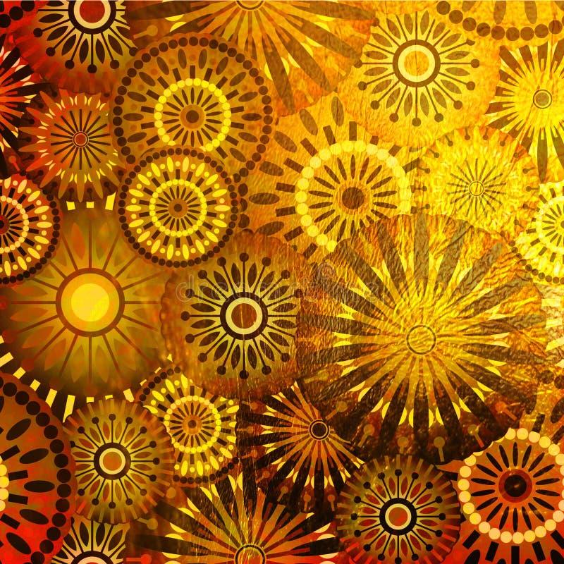 сбор винограда grunge предпосылки искусства иллюстрация вектора