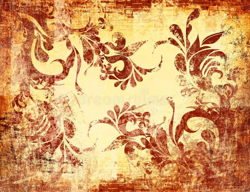 Download сбор винограда Grunge предпосылки текстурированный взглядом Иллюстрация штока - иллюстрации: 733779