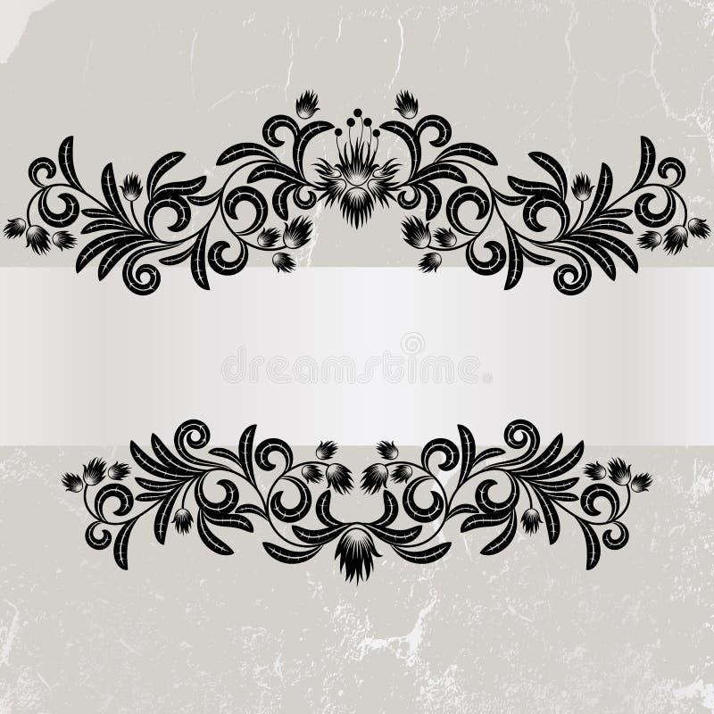 сбор винограда grunge рамки серый иллюстрация вектора