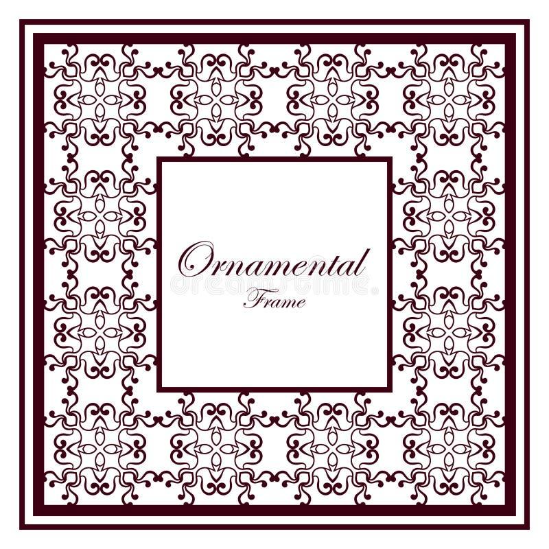 сбор винограда ornamental рамки иллюстрация вектора