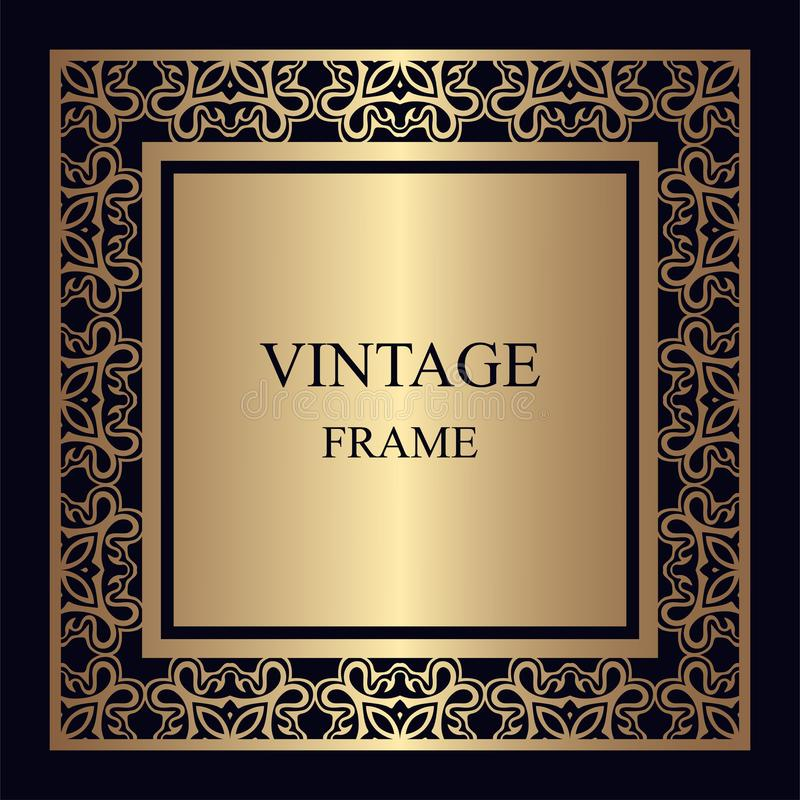 сбор винограда ornamental рамки стоковые фото