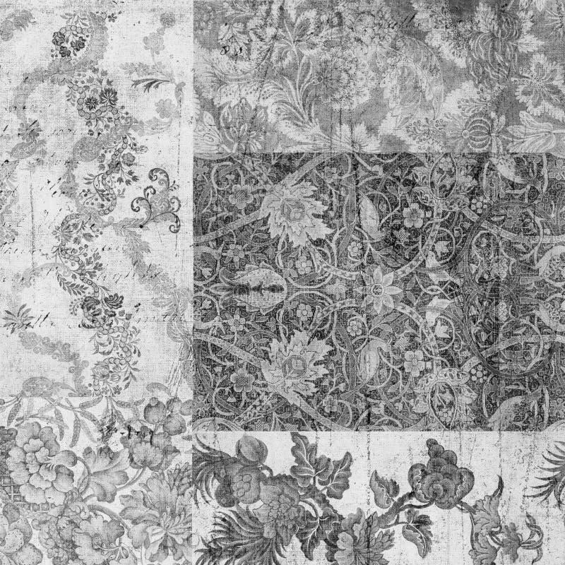 сбор винограда scrapbook предпосылки флористический grungy иллюстрация вектора