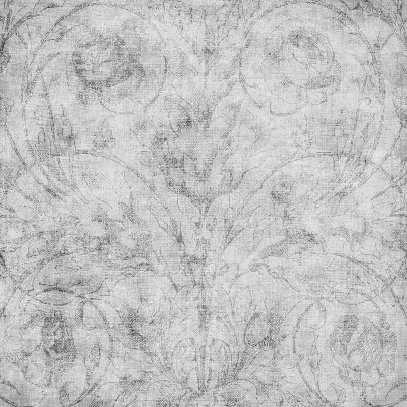 сбор винограда scrapbook штофа предпосылки флористический grungy бесплатная иллюстрация