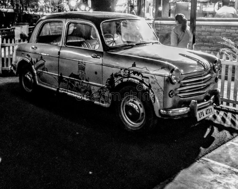 сбор винограда sepia автомобиля автомобиля ретро стоковое фото rf