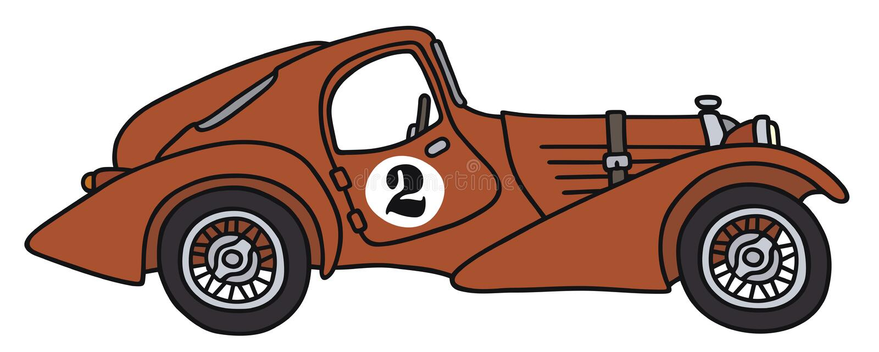 сбор винограда автомобильной гонки иллюстрация вектора