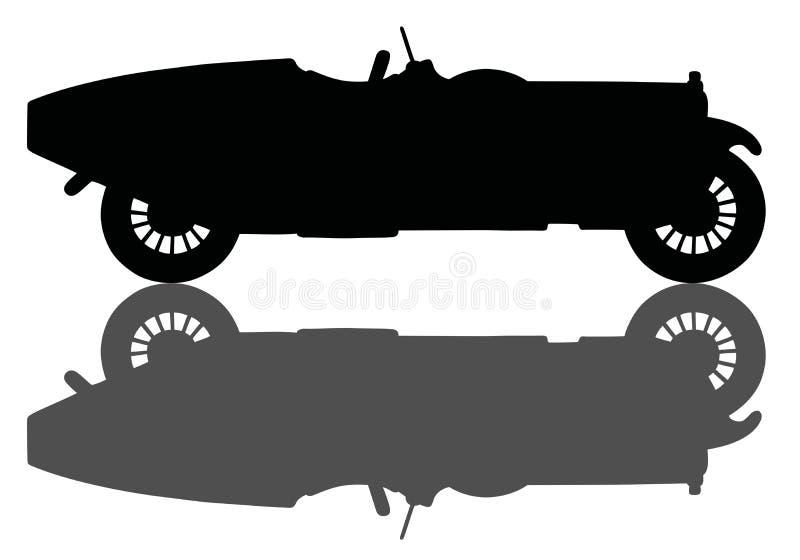 сбор винограда автомобильной гонки бесплатная иллюстрация