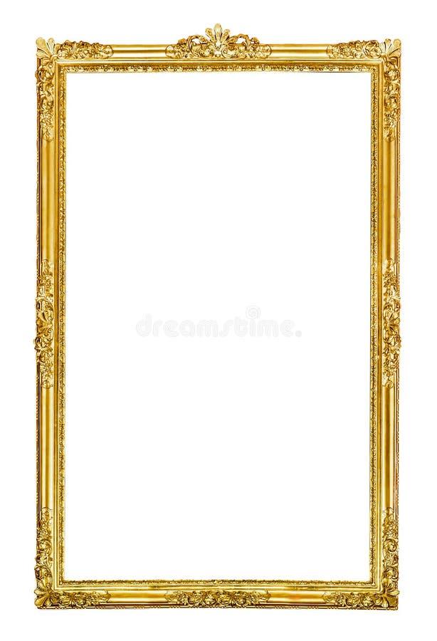 сбор винограда вектора иллюстрации рамки золотистый стоковое изображение rf