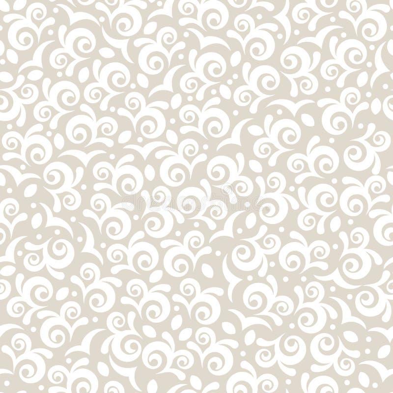 сбор винограда вектора флористической картины безшовный Пастельный беж красит abst иллюстрация вектора