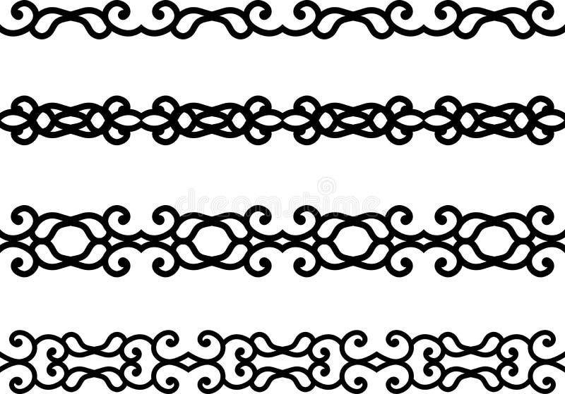 сбор винограда граници флористический иллюстрация вектора