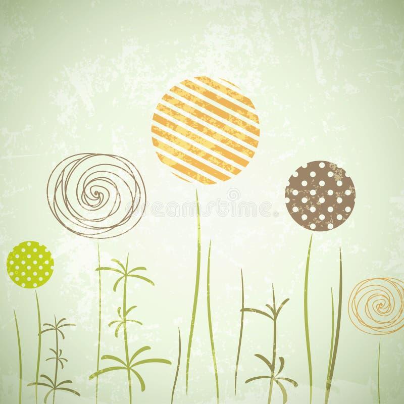 сбор винограда иллюстрации части цветка предпосылки иллюстрация штока