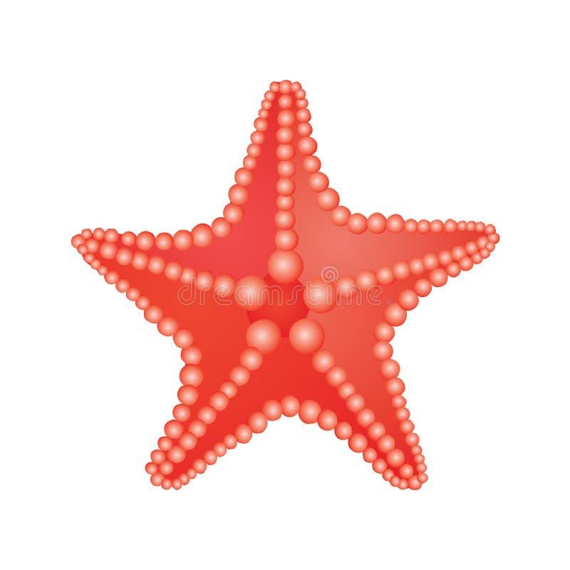 сбор винограда типа звезды моря вычерченной иллюстрации руки первоначально стоковое изображение rf