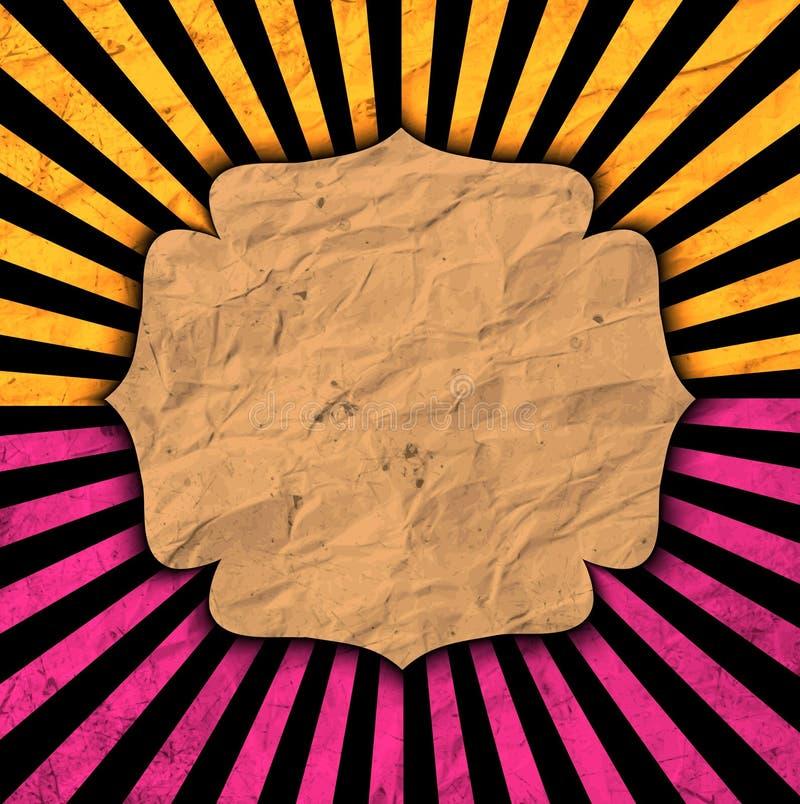 Download сбор винограда шаблона предпосылки изолированный золотом Lable лучи абстрактная предпосылка Иллюстрация штока - иллюстрации насчитывающей уговариваний, радиально: 41662534
