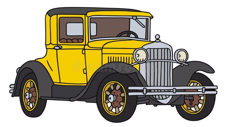 сбор винограда sepia автомобиля автомобиля ретро иллюстрация штока