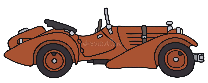 сбор винограда sepia автомобиля автомобиля ретро иллюстрация вектора