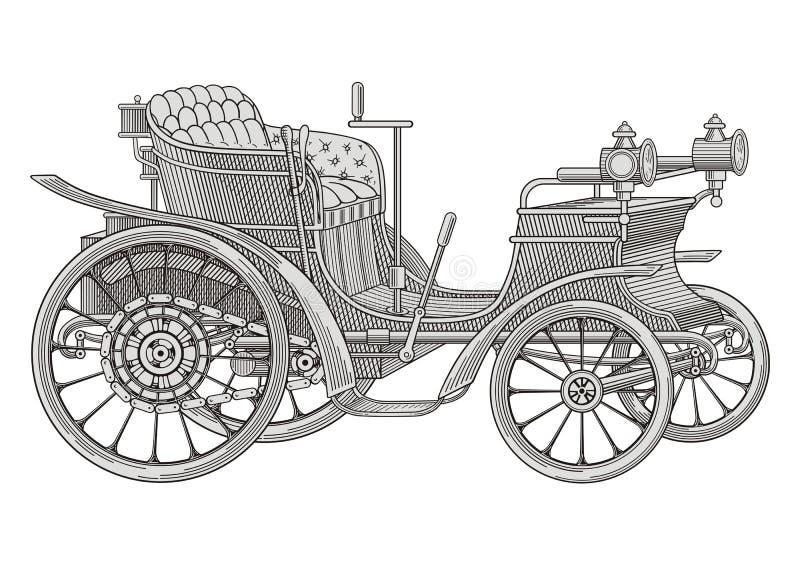 сбор винограда sepia автомобиля автомобиля ретро бесплатная иллюстрация