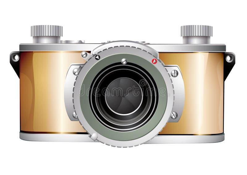 сбор винограда slr камеры 35mm иллюстрация штока
