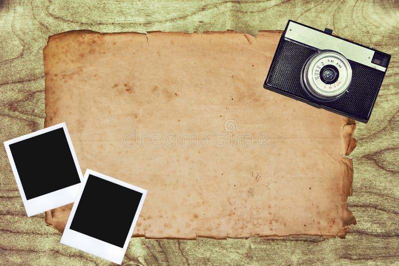 сбор винограда slr камеры 35mm иллюстрация вектора
