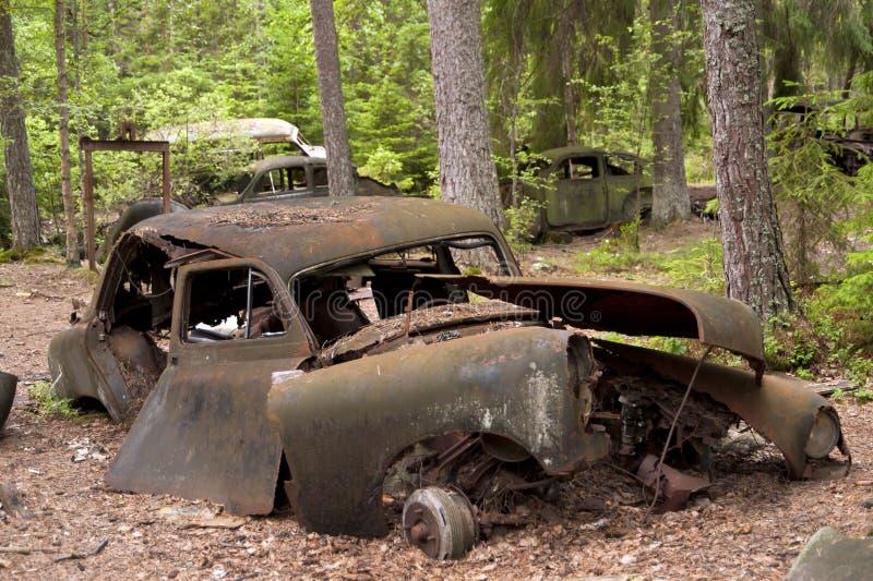 Сброс автомобиля в Kirkoe Mosse стоковые изображения