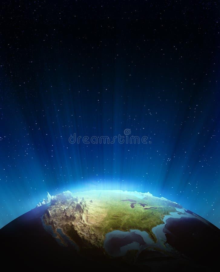 Сброс Северной Америки реальный иллюстрация штока