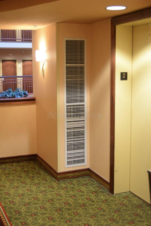 Сброс HVAC в комнате стоковое фото rf