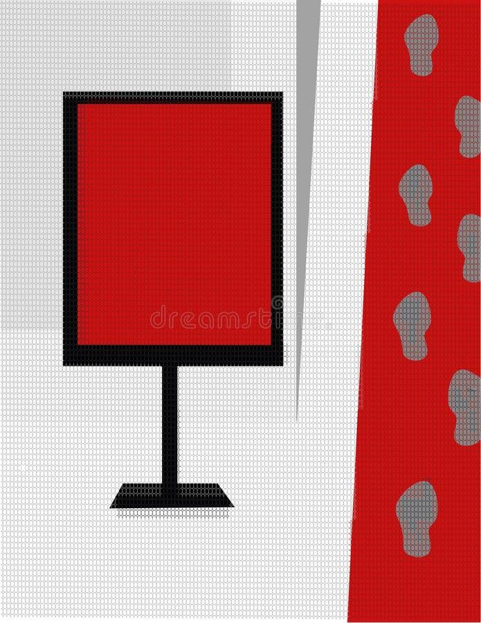 сбывание красного цвета ковра иллюстрация штока