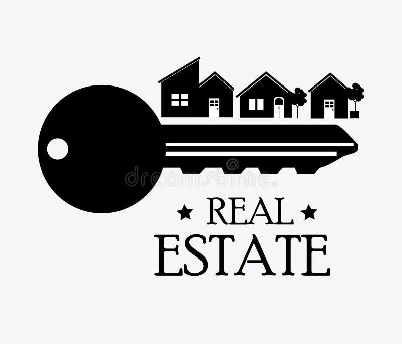 сбывание дома дома имущества конструкции реальное иллюстрация вектора