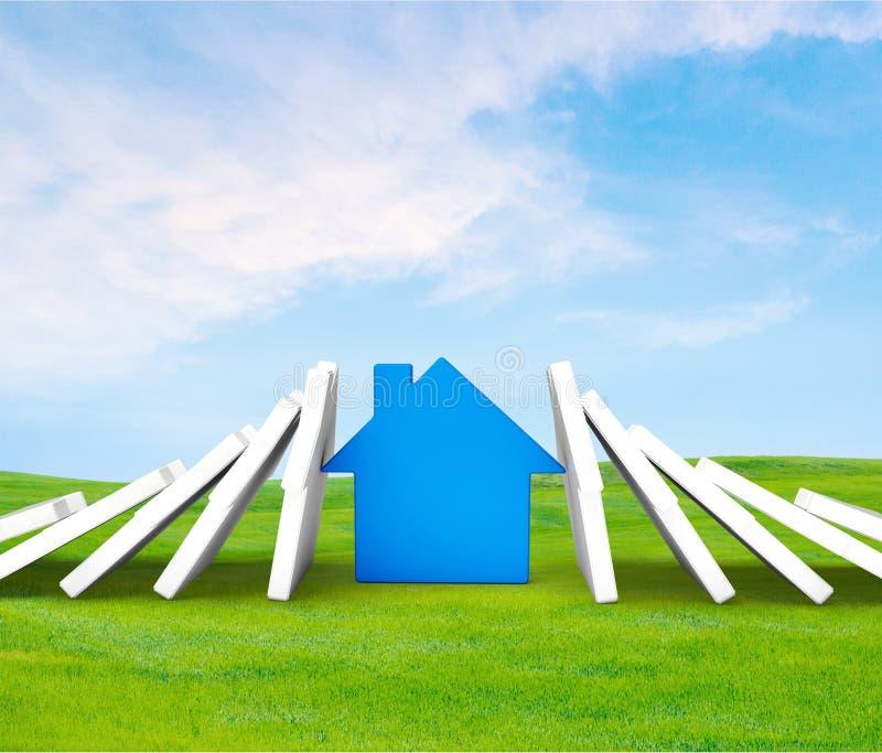 сбывание ренты домов квартир имущества реальное стоковая фотография