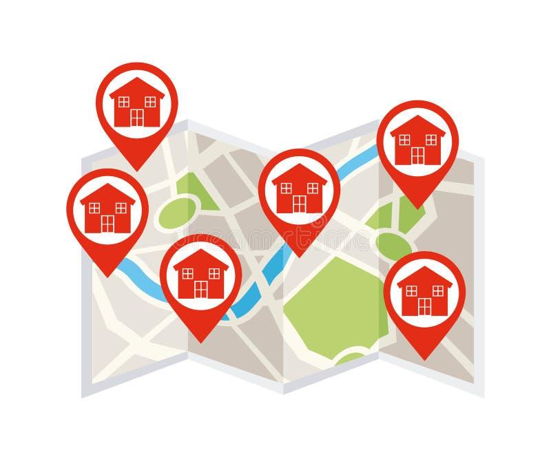 сбывание ренты домов квартир имущества реальное иллюстрация вектора