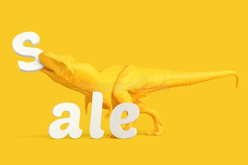 сбывание стеклянной руки принципиальной схемы увеличивая T-Rex с письмами Содержит путь клиппирования стоковые изображения rf