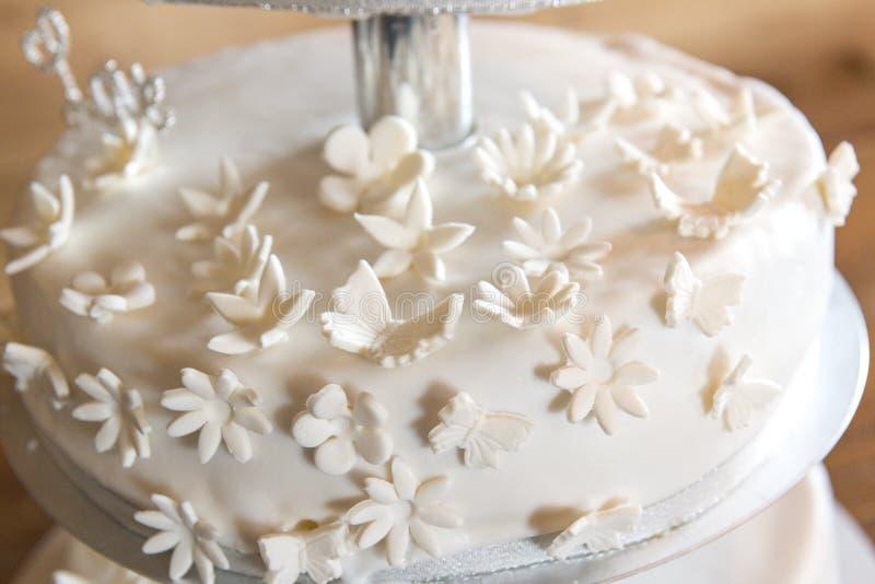 Свадебный пирог внешний стоковые фото
