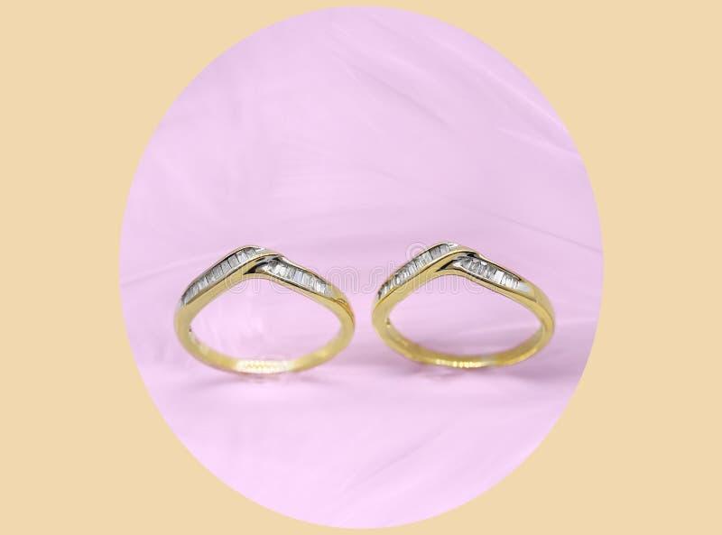 Свадьба диаманта & набор колец вечности стоковое фото rf