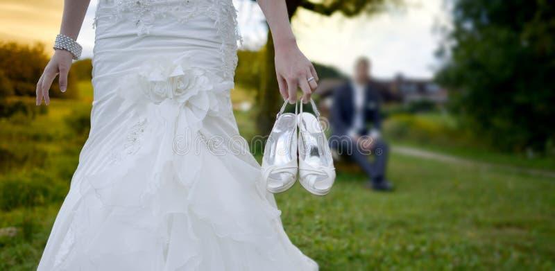 Свадьба, жених и невеста совместно стоковые изображения